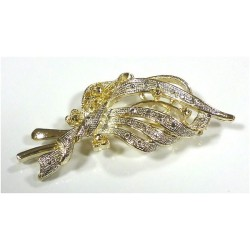 Gold and silver brooch in...