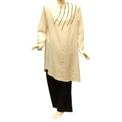 Linen Hafsa set (white...