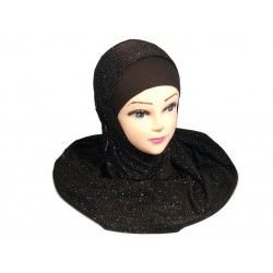 Hijab 1 piece dark brown...
