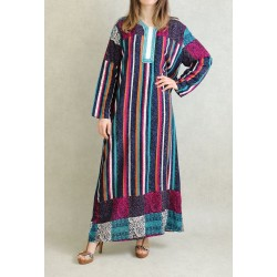 Multicolored long-sleeved...