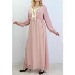 Long dress with golden...