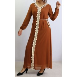 Long dress adorned with...