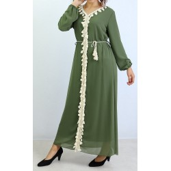 Long dress embellished with...