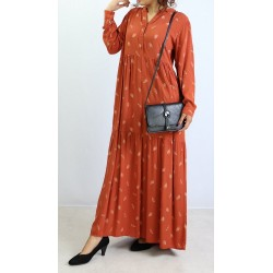 Loose-fit long dress with...