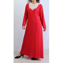 Red long dress with...