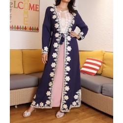Long kimono with shiny...