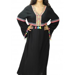 Large black dress with...