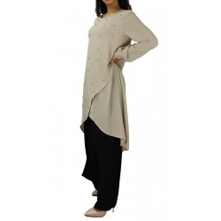 Tunic adorned with pearls -...