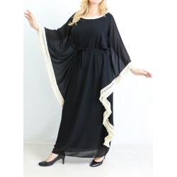 Loose and long dress with...
